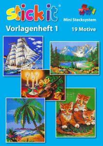 Vorlagenheft Mini Stecksystem XXL Nr. 1 - 19 Motive Nr. 40200