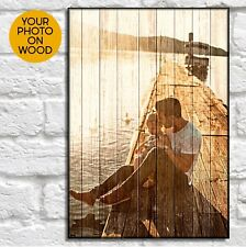 Personalised Anniversary Gifts For Men Birthday Gift For Him Wood Photo Print