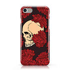 PAPER STYLE ROSES SKULL DESIGN PATTERN CASE COVER FOR APPLE IPHONE MOBILE PHONES