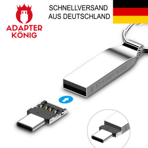 USB C Adapter OTG Typ C Mini Stecker auf USB Buchse Typ A - Huawei, Samsung, HTC