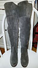 FRYE Clara Boots Over-the-knee Slouch Pull On Smoke Gray Suede Sz 7M