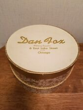 Vintage Dan Fox Hat Box Chicago Millinery Excellent Condition