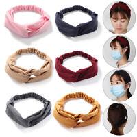 Blühende Turbane Headbands für Maskenhalter Elastische Haarband Yoga Haarband