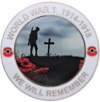 World War 1 WW1 Centenary We Will Remember Pin Badge