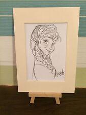 DISNEY congelato Concept art-Principessa Anna Pencil sketch A Mount-ORIGINALE ART