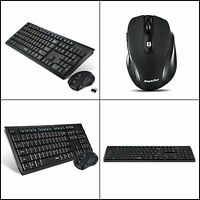 HP Long Battery Life Ergonomic Wireless Desktop Keyboard and Mouse in 1 USB Set