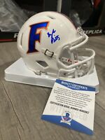 KYLE PITTS SIGNED AUTOGRAPHED FLORIDA GATORS MINI HELMET HEISMAN  Beckett witnes