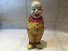 Antique Molded Composition Clown Doll