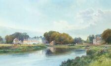 FRANK GRESLEY (1855 - 1936) SIGNED WATERCOLOUR, RIVER TRENT SHARDLOW, DERBYSHIRE