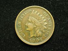 SUMMER SALE!! XF 1904 INDIAN HEAD CENT PENNY w/ DIAMONDS & FULL LIBERTY #80c