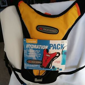 High Sierra 1.5 L Gulp Hydration Pack Running, Skiing, Hiking New With Tags