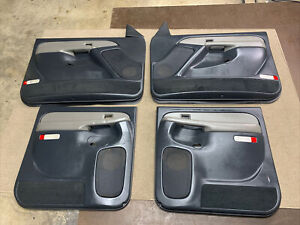 99-02 Chevrolet Silverado GMC Sierra Front & Rear Power Door Panels Graphite OEM