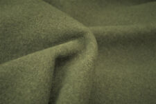B79 PLAIN DARK EARTHY GREY COLOUR MELTON LUXURIOUS FINE WOOL BLEND MADE IN ITALY