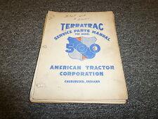 American Tractor TerraTrac 500 Crawler Tractor Dozer Parts Catalog Manual Book