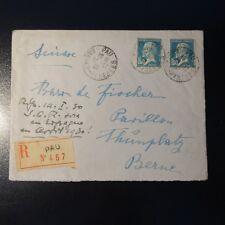 PASTEUR AUF BRIEF EMPFEHLEN COVER PAU 1929 -> BERN SCHWEIZ
