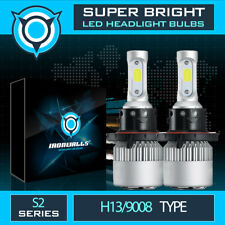 US IRONWALLS CREE H13 LED Headlight Bulb 9008 1300W Kit For Ford F150 2004-2014