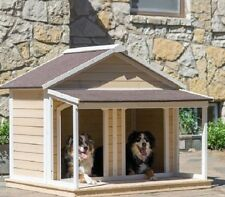 Duplex Dog Houses for Two Dogs Pet Puppy Shelter Cage Kennel Cottage Dog House