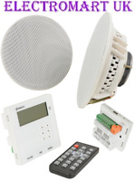BLUETOOTH AMPLIFIER AMP FM RADIO STEREO CEILING SPEAKERS KIT 20W USB SD FM