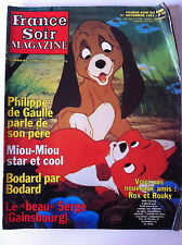 >France Soir Magazine du 21/11/1981; Rox et Rouky/ Gainsbourg/ Miou Miou/ Bodard
