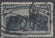 USA Scott #240 50ct Columbian Used VF-XF Centering CV $200
