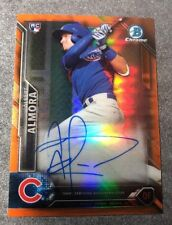2016 Bowman Chrome Albert Almora RC Orange Refractor Auto 11/25 Chicago Cubs