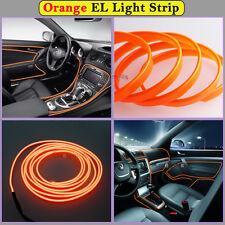 2M Orange EL Wire Car Interior Decor Fluorescent Cold Strip light Fit Mitsubishi