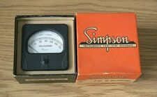 Vintage Simpson Model 27 Panel Meter 0 300 Milliamperes Dc Nos Nib