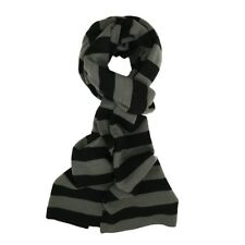 Despicable Me 2 Gru Scarf Minion Knit Gray Black Striped One Size Adult Tassles