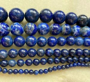 Lapis Lazuli dyed gemstone beads semi precious 4/6/8/10/12/14mm jewellery making