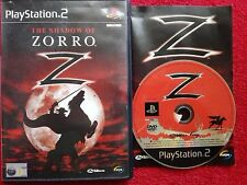 THE SHADOW OF ZORRO ORIGINAL BLACK LABEL SONY PLAYSTATION 2 PS2 PAL