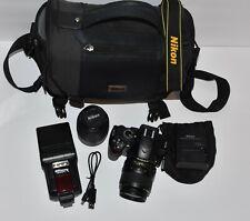 Nikon D3200 24.2 MP Digital SLR Camera 18-55mm and 55-200mm Lens Kit WU-1a