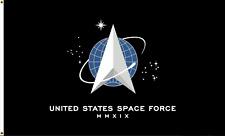 United States Space Force USA TRUMP 2020 BLACK Flag 3X5 Rough Tex® 100D