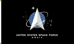United States Space Force USA TRUMP 2020 BLACK Flag 3X5 Rough Tex® 100D