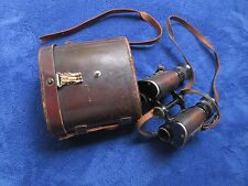 WW1 ORIGINAL GERMAN MILITARY BINOCULARS VOIGTLANDER BRAUNSCHWEIG & LEATHER CASE