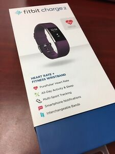 VGUC Fitbit Charge 2 Heart Rate/Fitness Wristband Watch Plum Small (US Version)