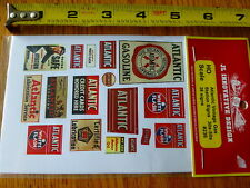 JL Innovative Design HO #236 Atlantic Vintage Gas Station Signs 30s-50s/38 Signs