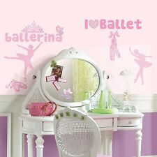 BALLET 30 BiG Wall Stickers BALLERINA Dancer Room Decor Decal Bedroom Decoration