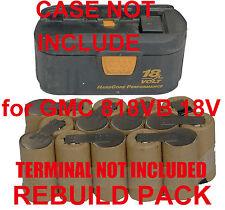 Battery Rebuild Pack For GMC nail gun Nailer SN4 818VB 18V 3.0Ah Ni-MH