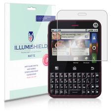 iLLumiShield Matte Screen Protector w Anti-Glare/Print 3x for Motorola Charm