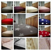 Teddy Bear Fleece Cozy Warm Fitted Bed Sheet Mattress Cover All UK Sizes