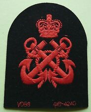 Q/C Royal Navy. Petty Officers. Red woven arm badge(Unissued)