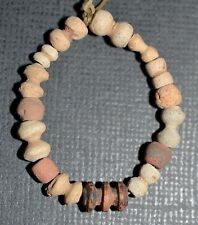 Set Of Ancient Excavated Terracotta Clay Beads Found Mali, African Trade