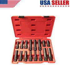 16-Pc Locking Lug Nut Master Set Wheel Lock Key Removal Tool Kit