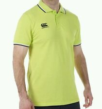 MEN'S CANTERBURY RUGBY POLO.SIZE.LARGE.LIME PUNCH