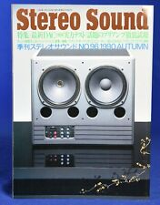 Stereo Sound No.96 Autumn 1990 Japanese High End Audio Magazine in Japanese