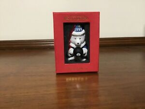 "Lovely Dayton Hudson 1999 Fifteen Years ""SANTA BEAR"" Ornament Wizard 8 Ball NIB"