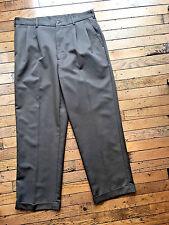 Mens 34x30 Brown Pleated Front Dress Pants by Van Heusen bx18