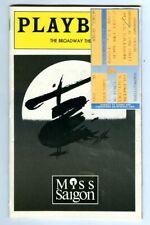Vintage 1999 MISS SAIGON Broadway Theatre PLAYBILL & Ticket Stub! Original Run!