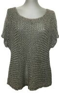EILEEN FISHER GRAY KNIT TOP, M, $235