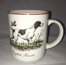 Lord & Taylor White English Pointer Dog Coffee Mug Cup Hunting Dog
